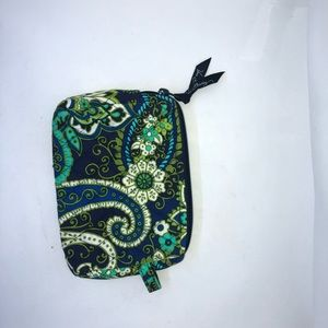 Vera Bradley Makeup Bag Floral Blue Green